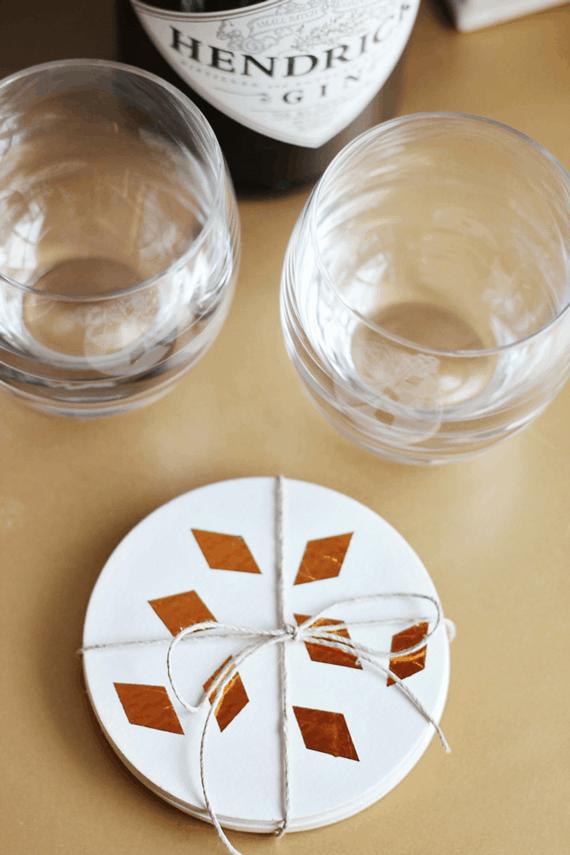 Foil paper shape coasters