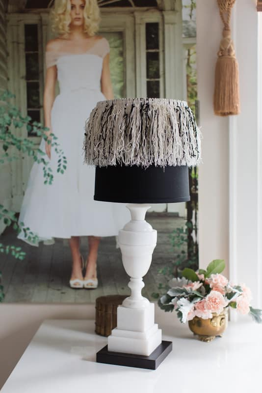 Fringe lampshade