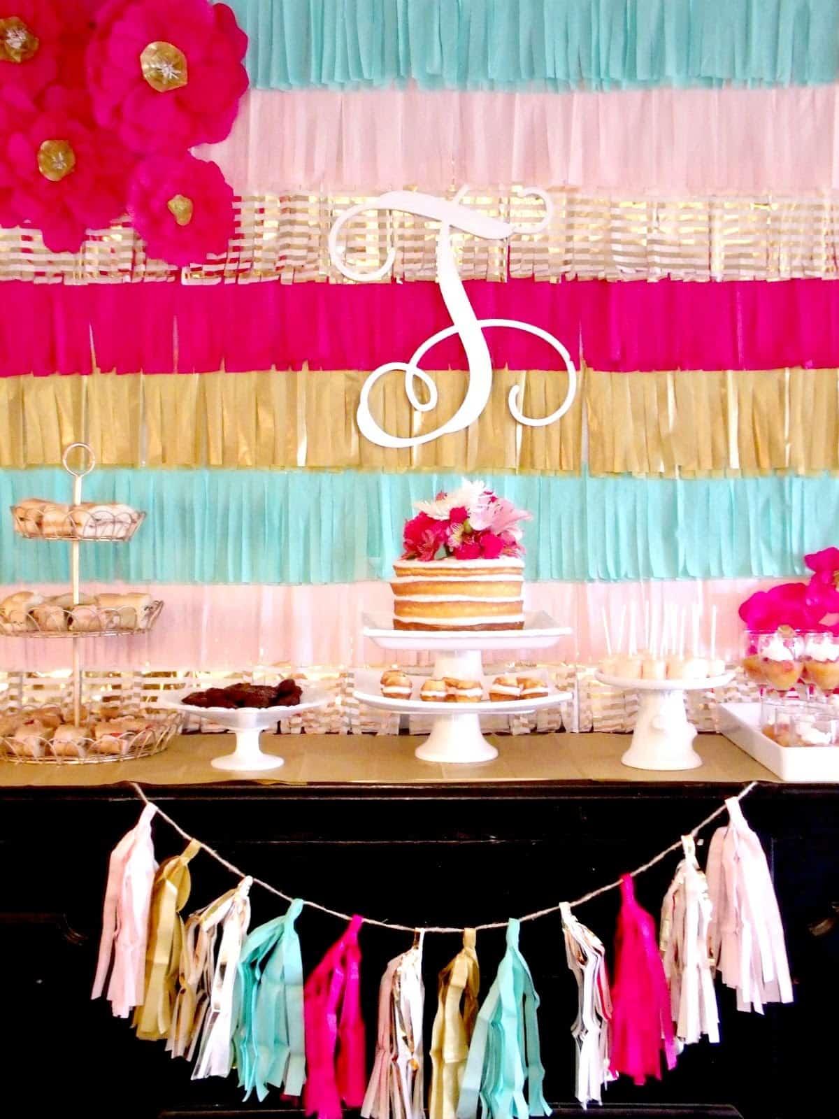 Fringe party backdrop
