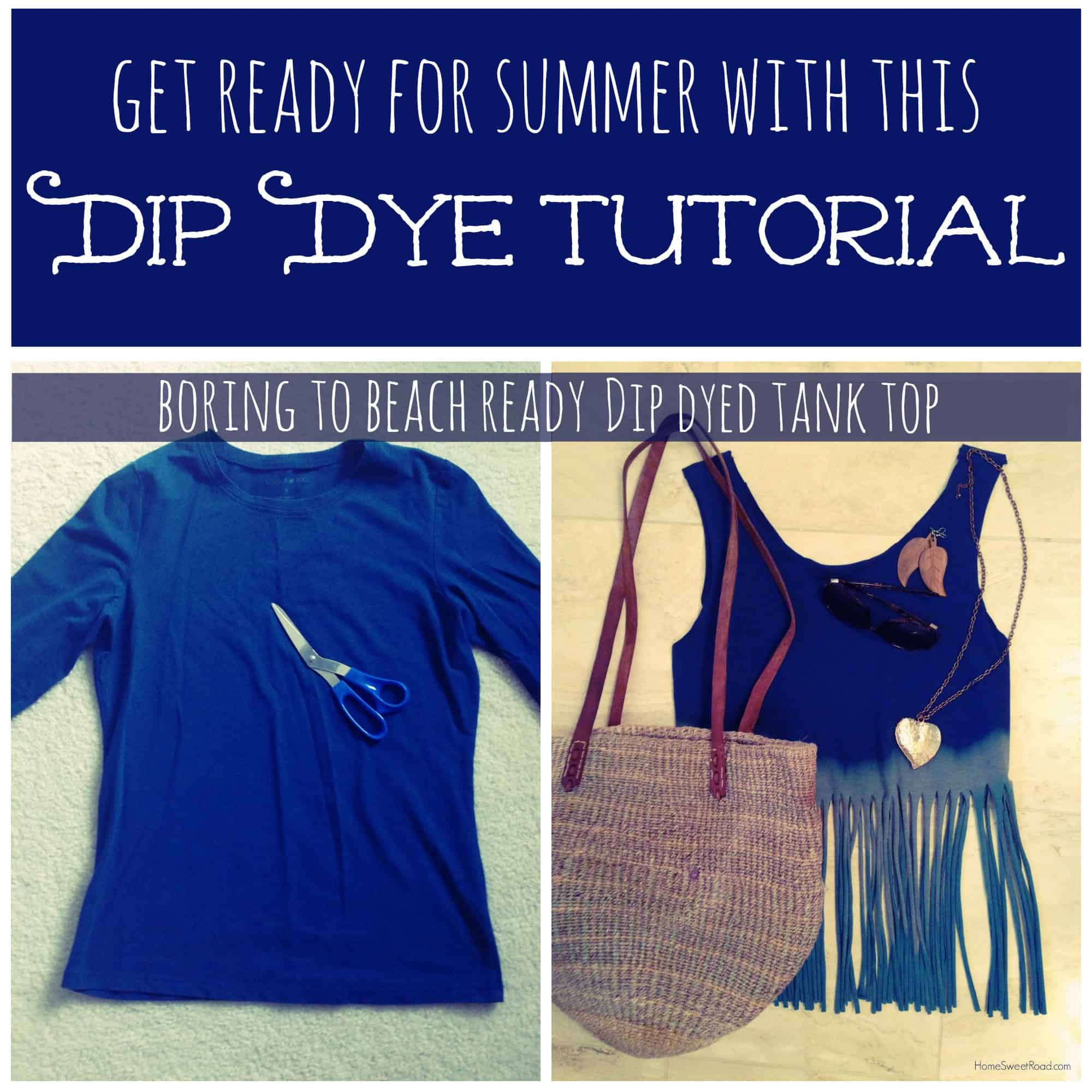 Fringed and dip-dyed beach tank