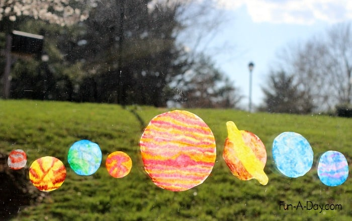 Hand drawn planet sun catchers