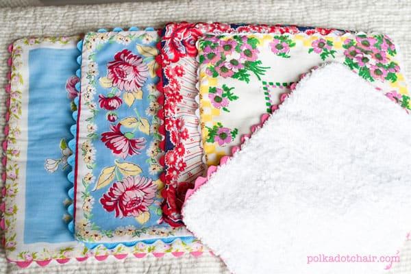 Handkerchief burp cloths