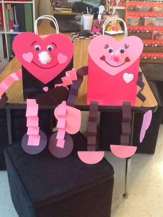 Heart people Valentine bags