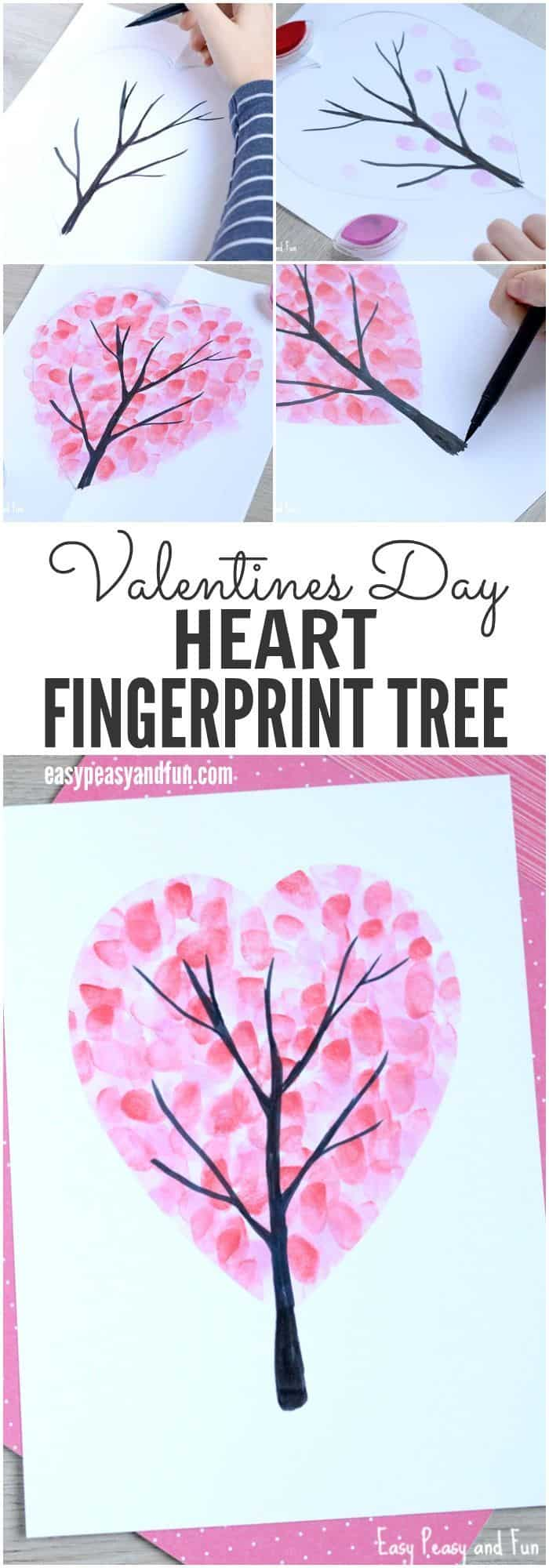 Heart shaped fingerprint tree