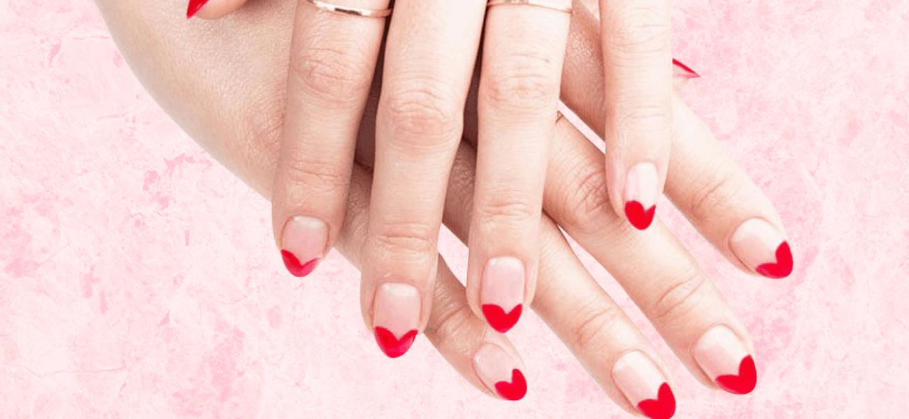 Adorable DIY Valentine's Day Manicures