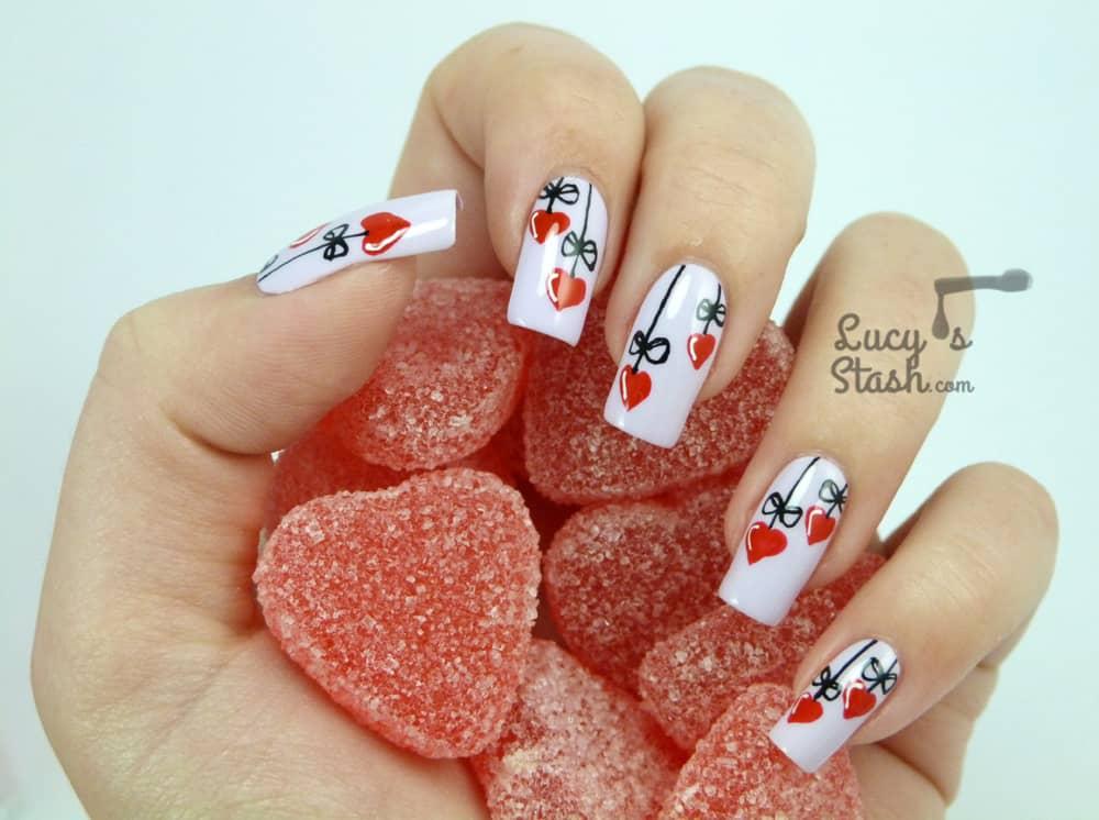 Heart strings manicure