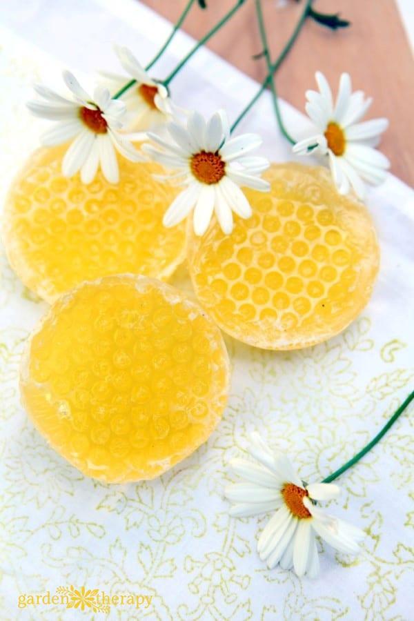 Honeycomb soap bars
