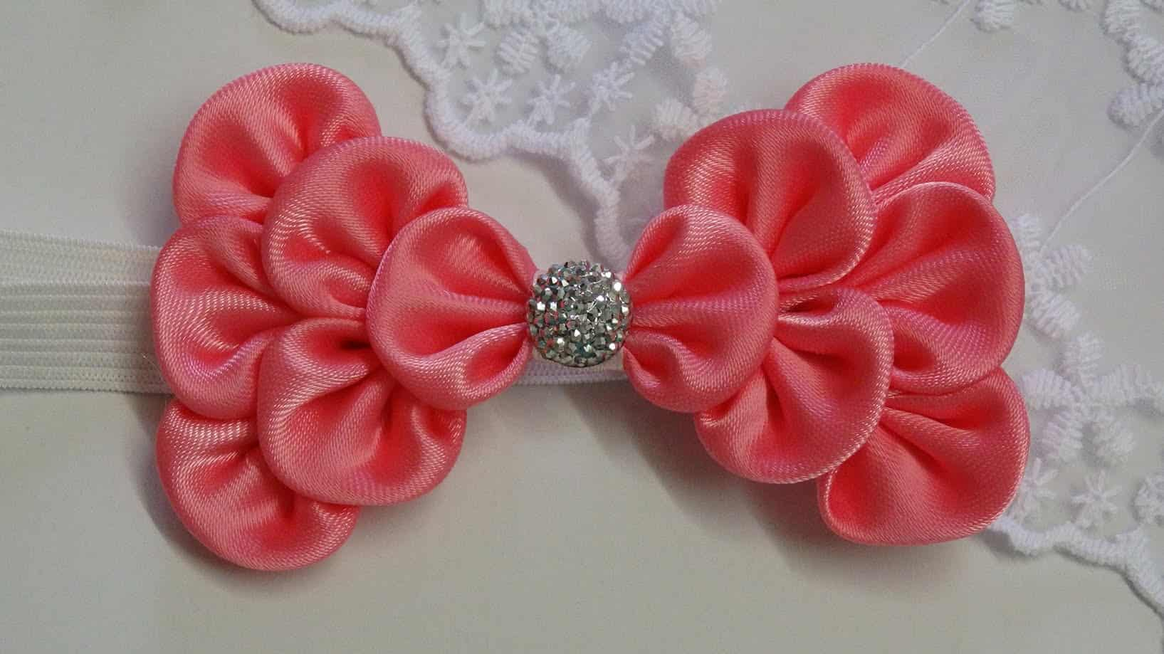 Kanzashi bow hairband