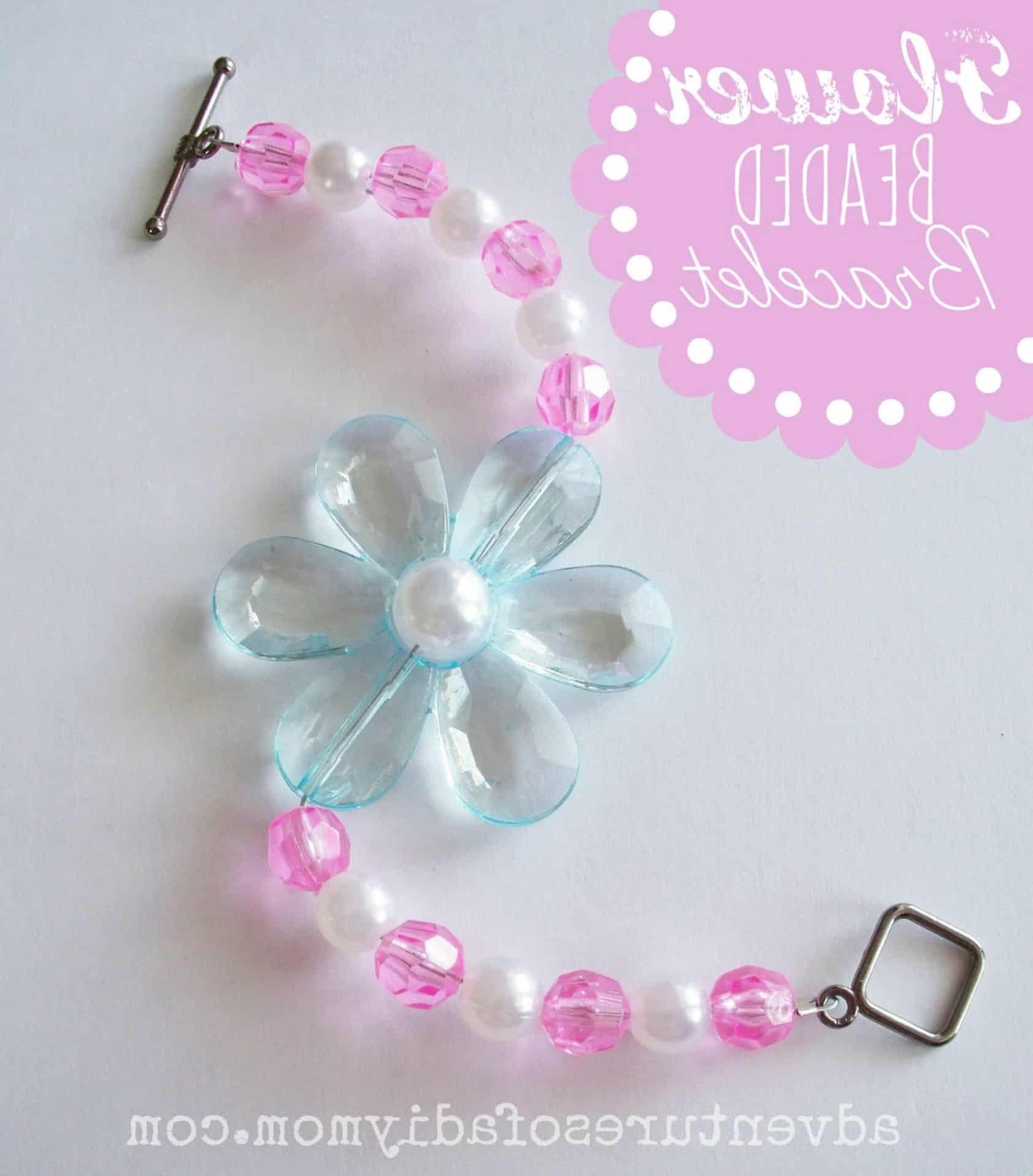 Kid's flower beaded bracelet