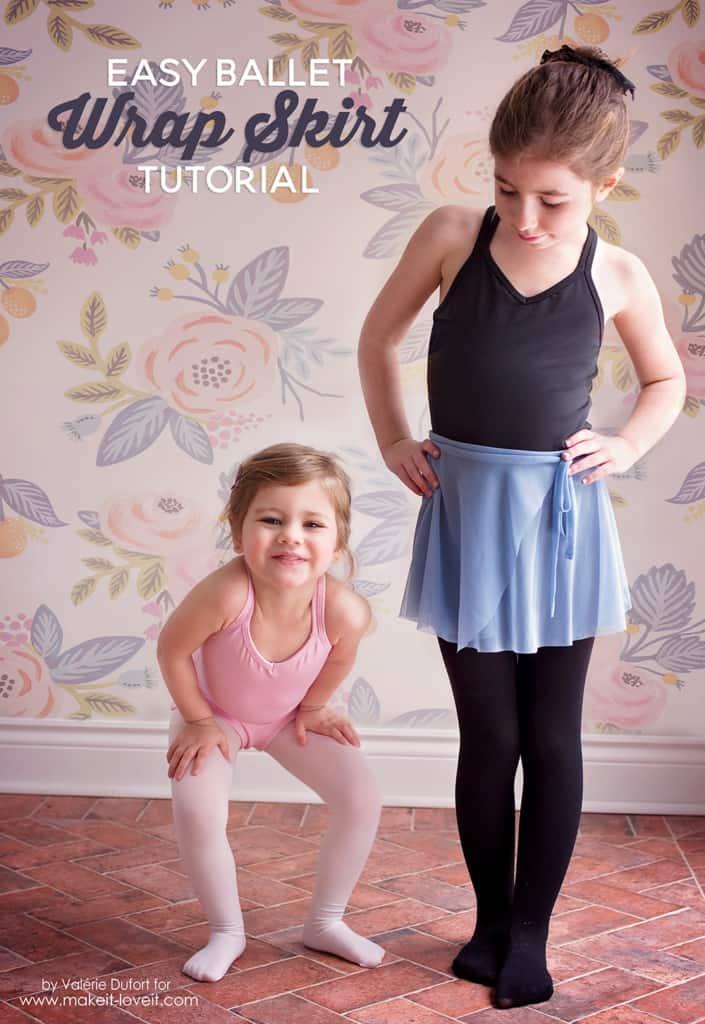 Little DIY wrap skirts for kids