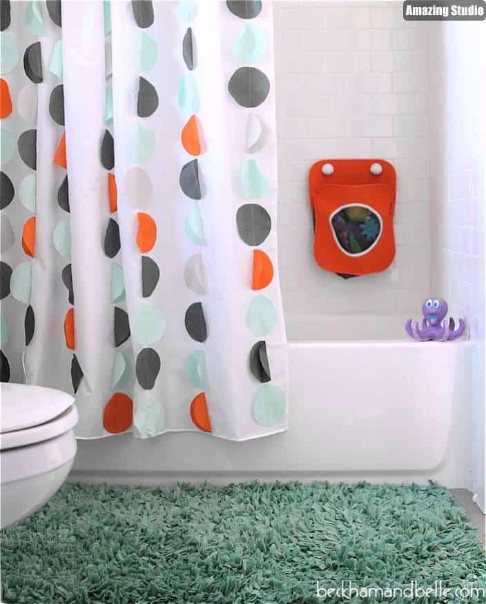 9 Loose Polka Dots Shower Curtain