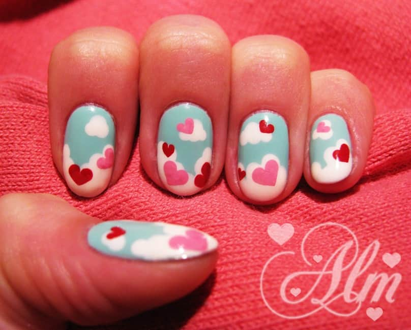 Love is in the air manicure