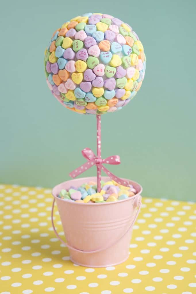 Lovely candy heart topiary