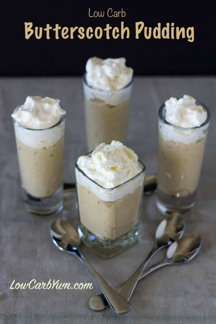 Low carb butterscotch pudding