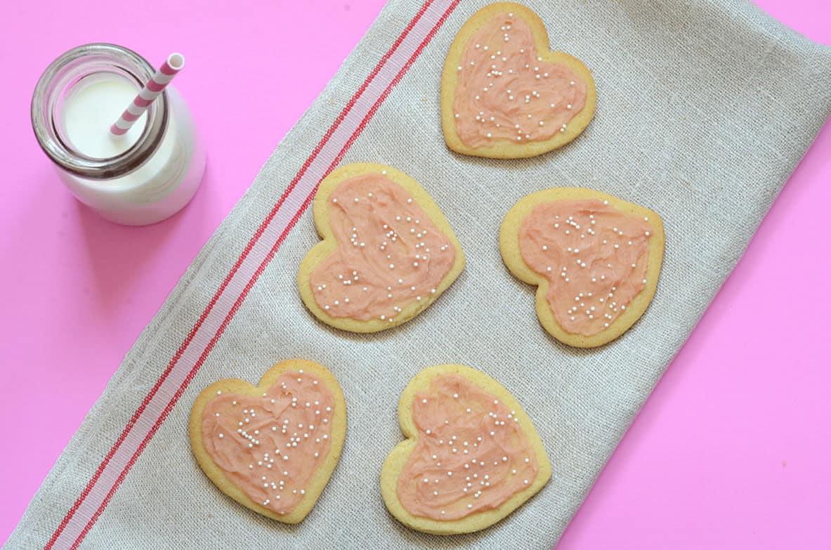 Low carb paleo Valentine's Day sugar cookies