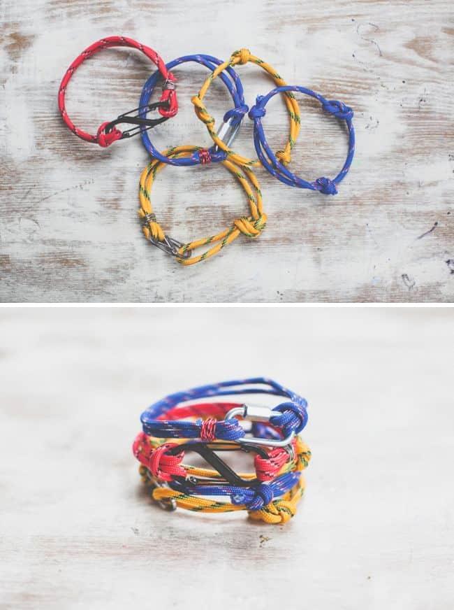 Masculine rope bracelets