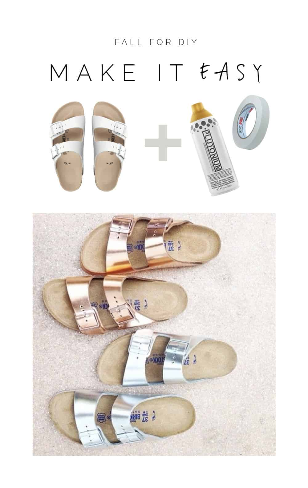 Metallic birkenstocks