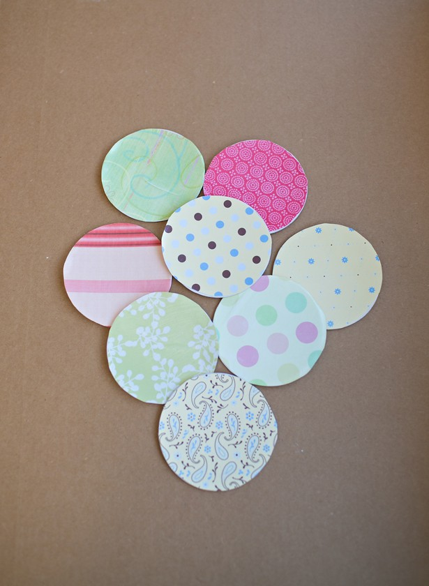 Mod Podge sealed scrapbook paper coasters