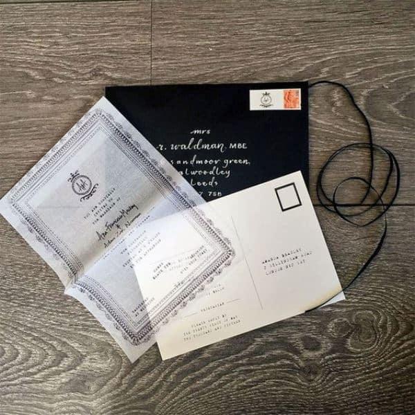 Monochrome handkerchief