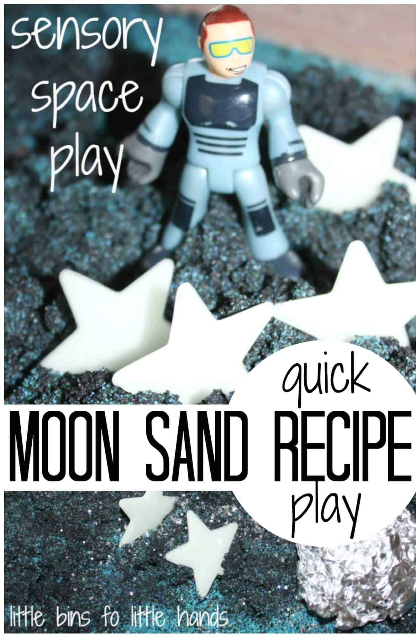 Moon sand sensory play craft