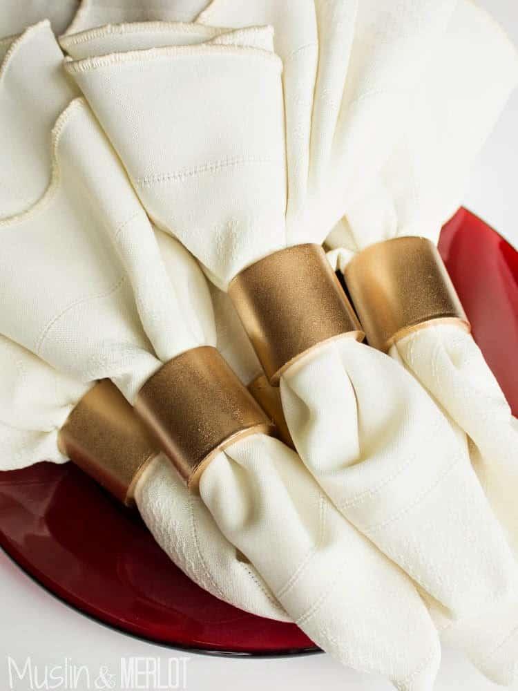 PVC pipe napkin rings