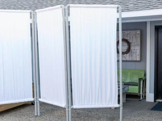 PVC pipe privacy screen