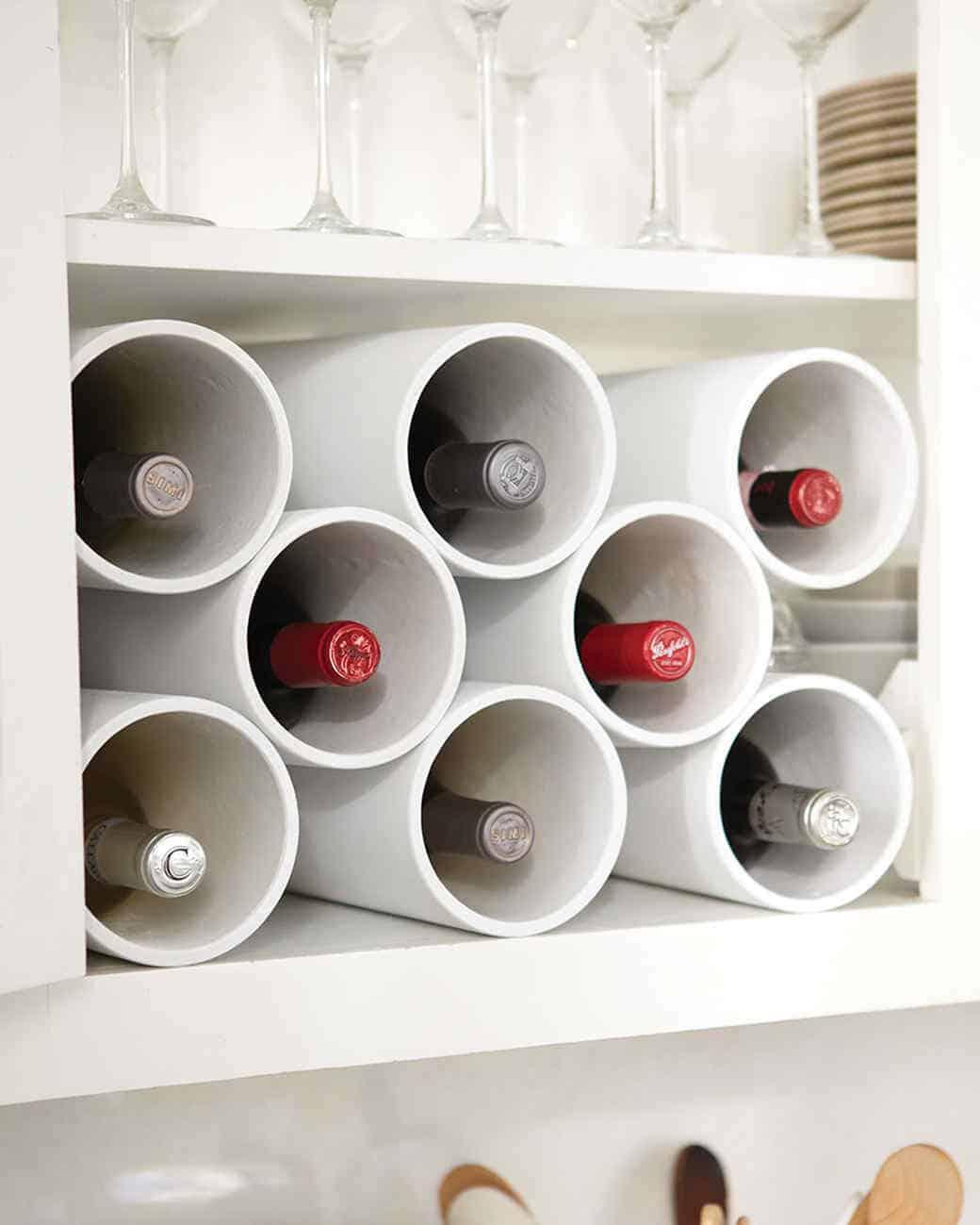 PVC pipe wine rack