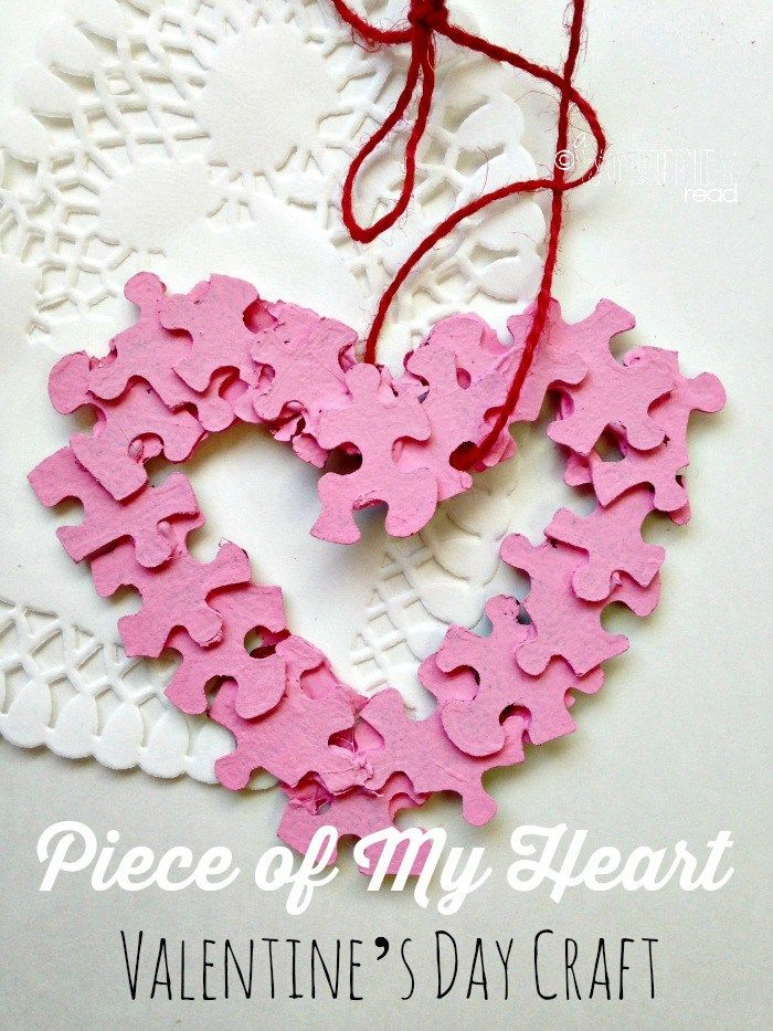 Piece of my heart puzzle craft