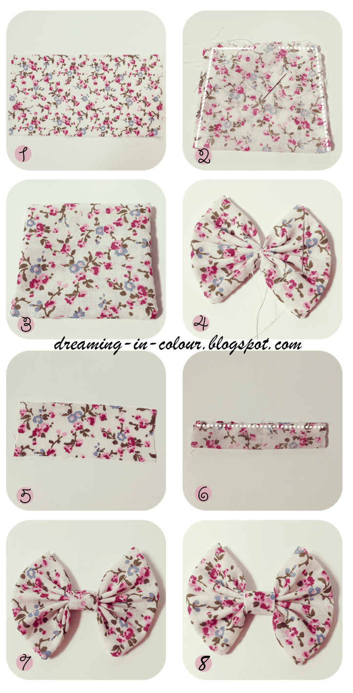 Pinched cetred fabric bows