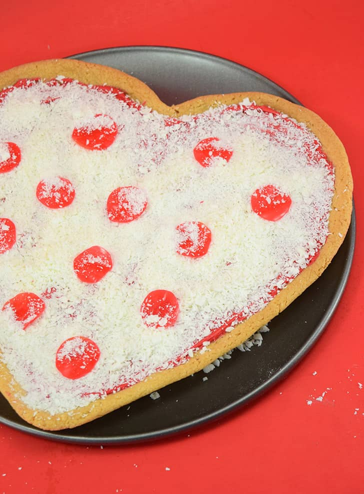 Pizza my heart Valentine's Day cookie