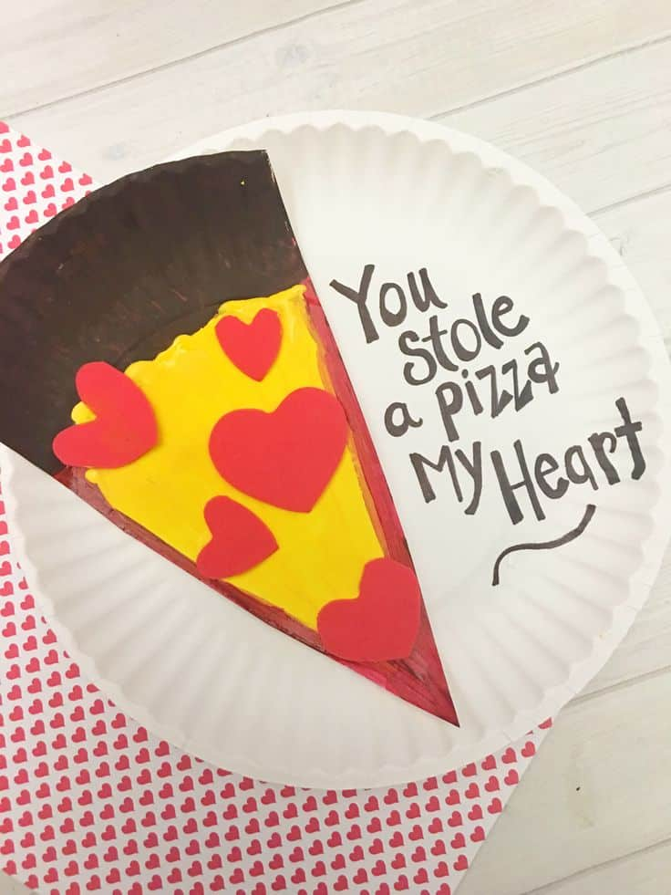 Pizza my heart Cute Homemade Valentines Day Crafts for Kids' Classrooms