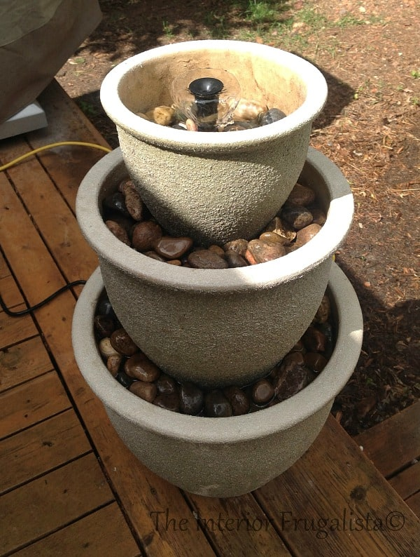 Planter water fountain