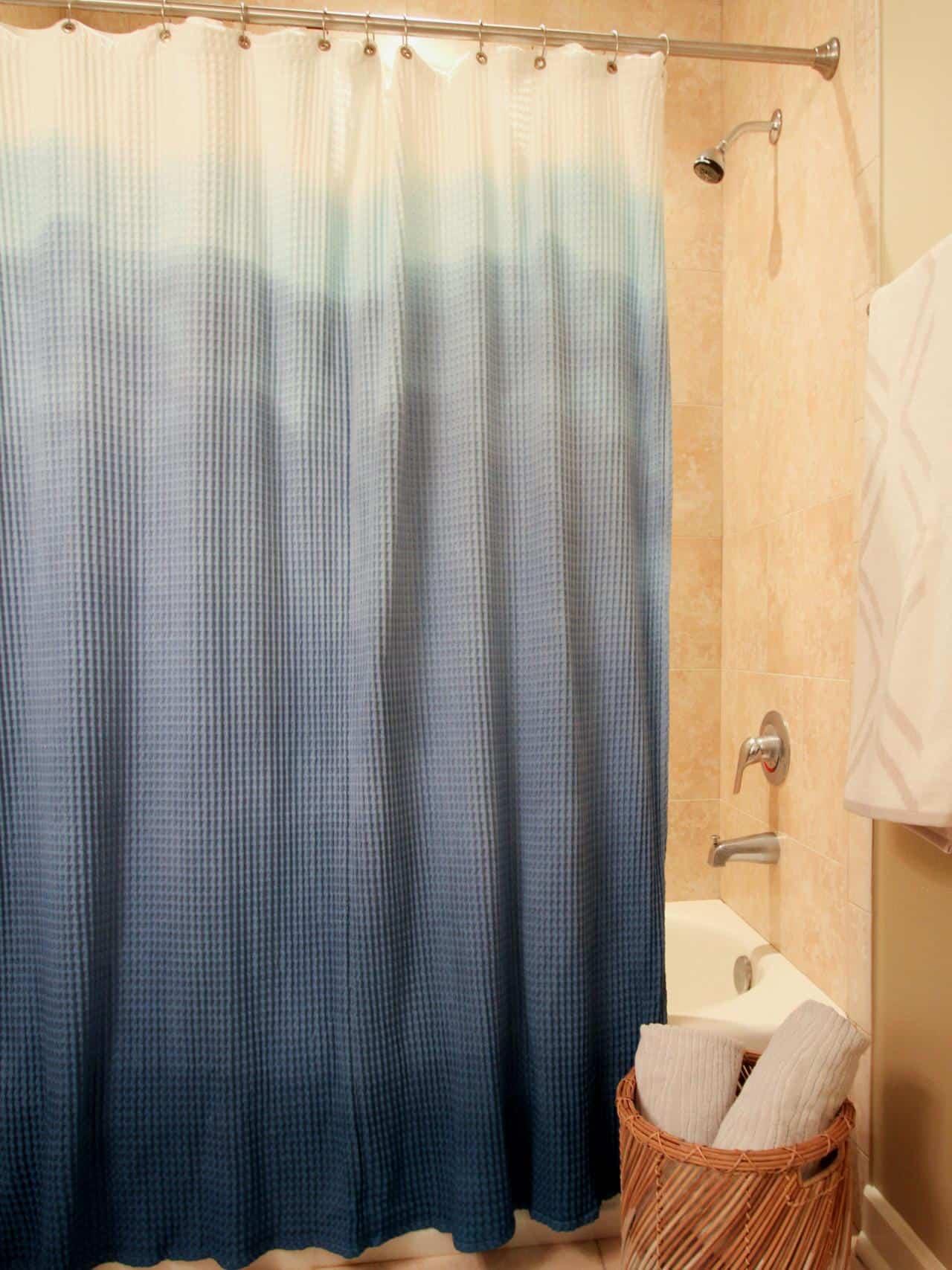 Pretty ombre shower curtain