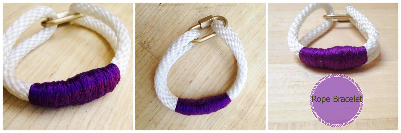 Quick link rope bracelet