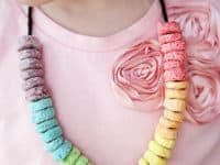 Rainbow Froot Loops necklaces 200x150 A World of Vivacious Color: Extra Fun Rainbow Crafts!