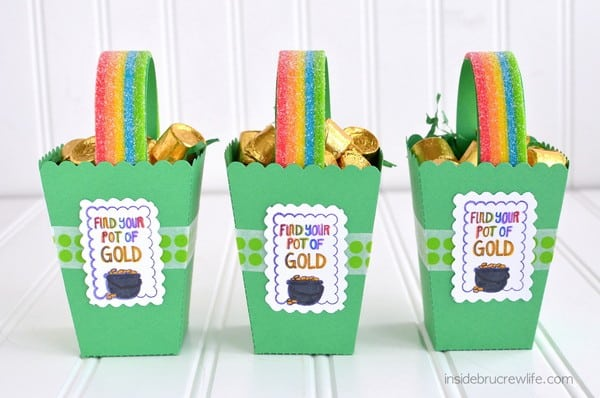 Rainbow and gold boxes