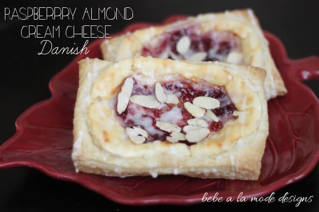 Raspberry almond cheese danish