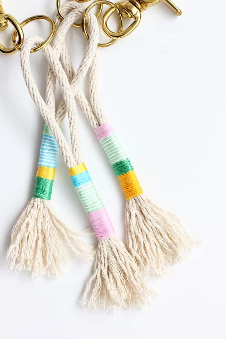 Rope tassel keychains