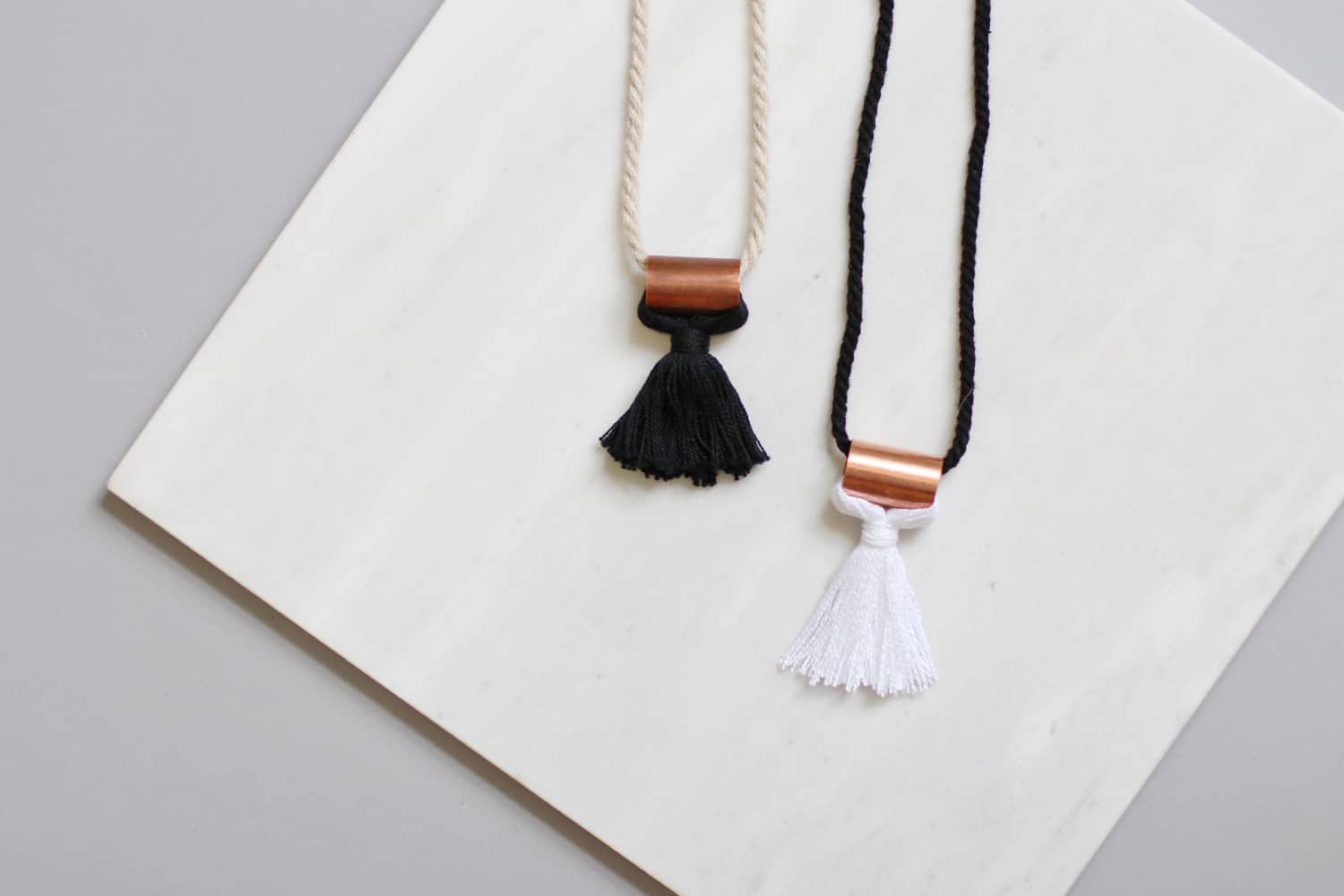 Rope tassel necklace