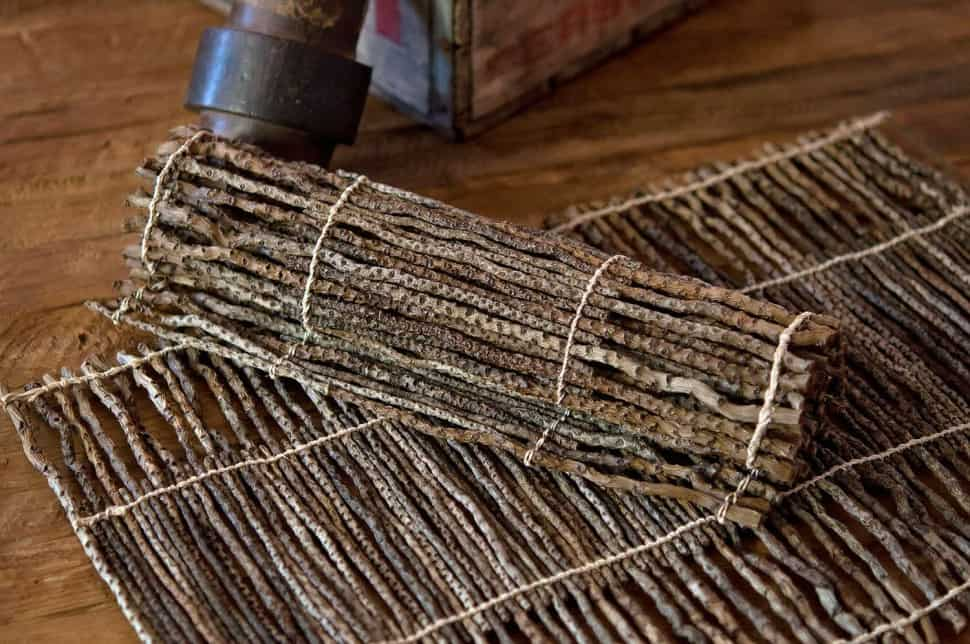 Rustic pine branch placemats