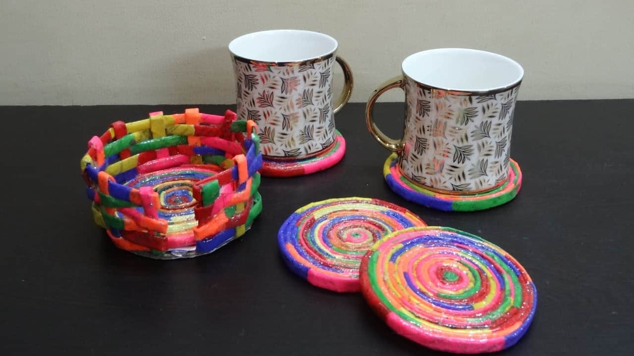 Sealed spiral paper coasters