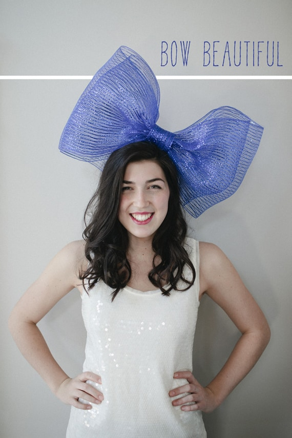Sheer jumbo hair bow