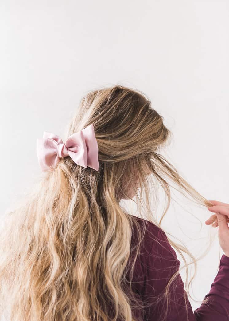 Silk hair bow