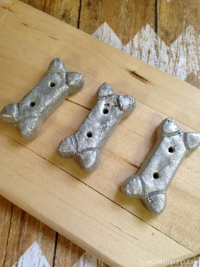 Silver dog treat ornaments