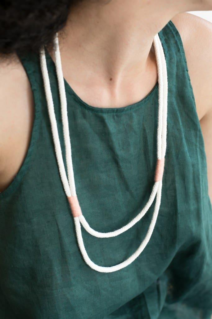 Simplistic rope necklace