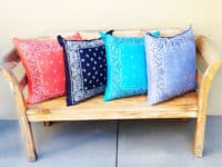 Simply sewn bandana throw pillows 200x150 Clothing and DIY Projects Made with Bandanas