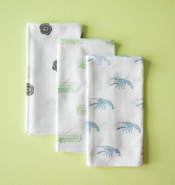 Stamped handkerchiefs