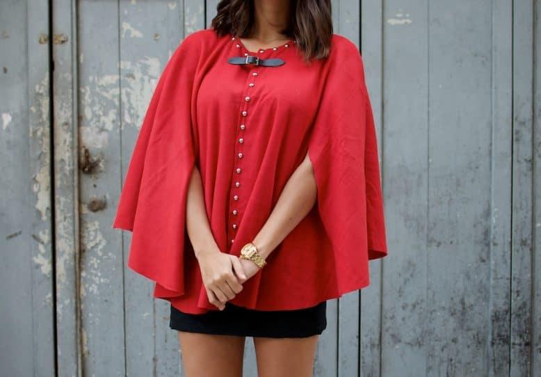 Studded cape