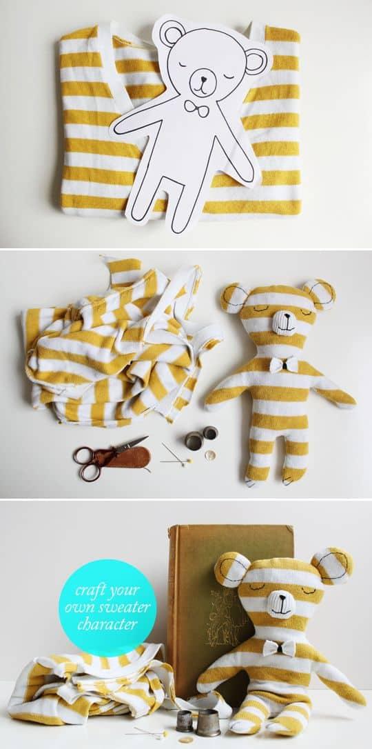 T-shirt to teddy bear