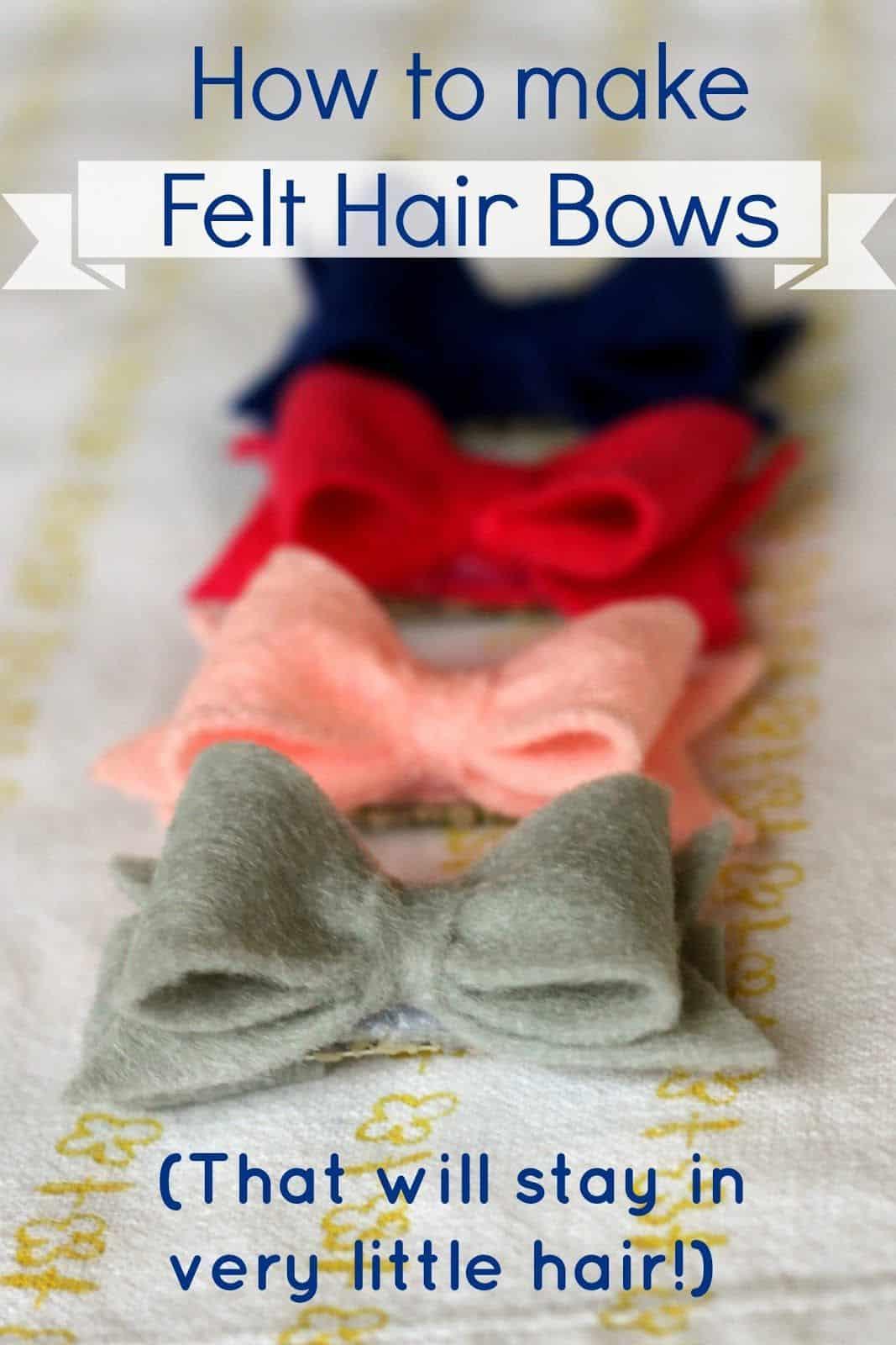Teeny tiny felt hair bows
